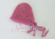Patterned Mohair Bonnet ~ Raspberry